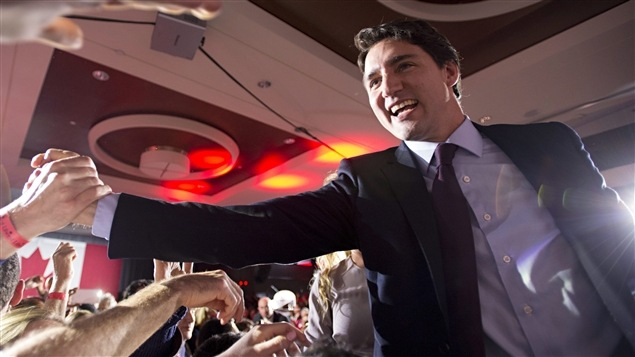Justin Trudeau savoure sa victoire.