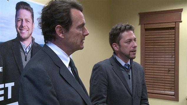 Pierre Karl Péladeau et Martin Ouellet