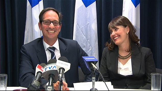 Stéphane Bédard et sa femme Janice Tremblay