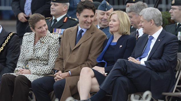 Les couples Grégoire-Trudeau et Teskey-Harper assistent à Ottawa aux cérémonies à la mémoire du caporal Cirillo.