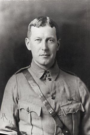 Lt.Col John McCrae. It is the 100th anniversary of his writing of the poem In Flanders Fields. Unfortunately McCrae, a doctor, contracted pnuemonia and died near the end of the war.