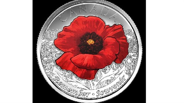 the Flanders Field 25-cent piece (commonly known as a