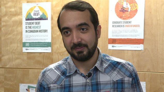 Arm ElKashab, président de l'Association des étudiants internationaux de l'Université Dalhousie, à Halifax