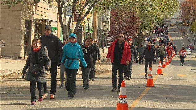 Des milliers de personnes ont marché à Saguenay