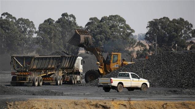 Une mine de charbon dans la province de Mpumalanga en Afrique du Sud.