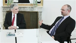Professor Gus Van Harten (Right) meeting with Austrian Chancellor Werner Faymann in 2014. Professor Van harten is an internationally respoected legal expert teaching at Osgoode Hall Law School in Toronto