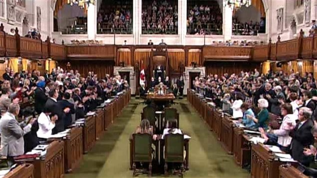 Up to now, as Canada grew additional seating could be squeezed in, but at 308 MPs of the last Parliament, the maximum was reached and a new concept was needed to fit in 30 more MP's