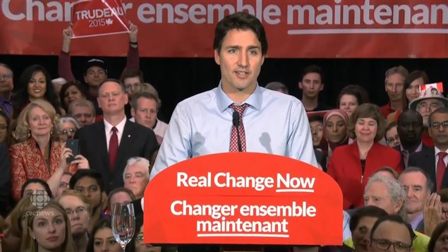"""""""To this country's friends all around the world… We're back,"""" said Justin Trudeau after being elected the country's new prime minister."""