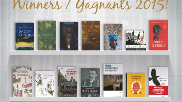 The winning books in various categories for the 2015 Governor-General's Literary awards