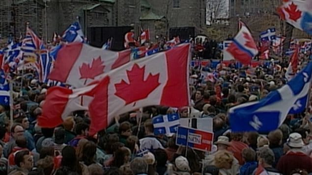 Just days before the referendum vote that almost broke up Canada, tens of thousands of Canadians, dismayed at the lack of action by the federal government held an ad hoc rally in Montreal to show Quebeckers that