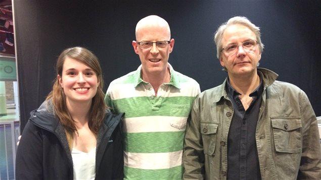 Nos commentateurs politiques, Amy Vachon-Chabot, Learry Gagné et Frédéric Boily.