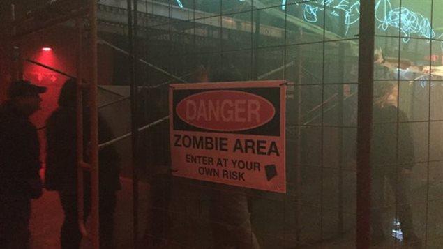 Le Tunnel de la Terreur Zombie du musée Terre Dynamique à Sudbury.
