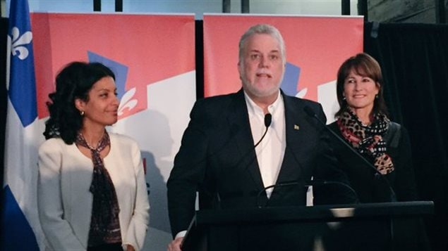 Le premier ministre Philippe Couillard est dans la circonscription de Saint-Henri-Sainte-Anne aujourd'hui, afin d'appuyer la candidate libérale Dominique Anglade avant l'élection partielle qui se tiendra le 9 novembre.