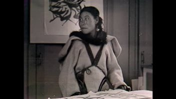 Kenojuak Ashevak was influenced by the landscape and lifestyle she lived in  Cape Dorset.