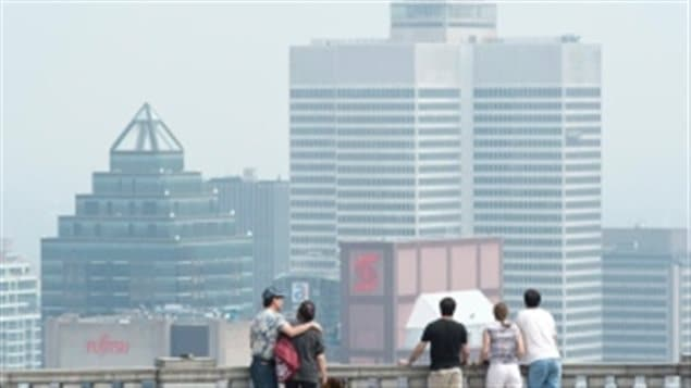 Montreal is seen in a file photo during a smog warning in 2013.