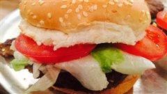 Burger aux fèves noires