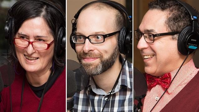 Sonia Sarah Lipsyc, directrice d'ALEPH, Sébastien Doane, bibliste, et Michael Nafi, chercheur en philosophie musulmane