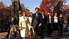 Arrivée du cabinet de Justin Trudeau à Rideau Hall.