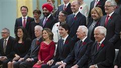 Quelques-uns des ministres du premier Cabinet Trudeau
