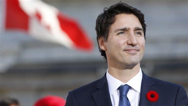Justin Trudeau, premier ministre du Canada, s'apprête à prononcer la première allocution publique de son mandat.