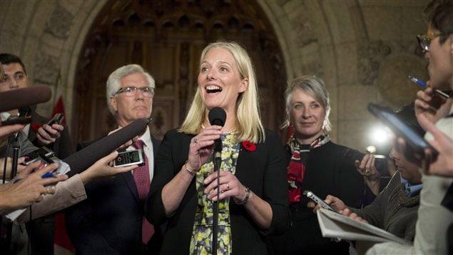 Le ministre de l'Environnement, Catherine McKenna
