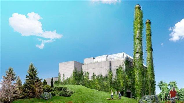 Projet de Cathédrale verte avec l'ancien incinérateur dans Rosemont-la-Petite-Patrie