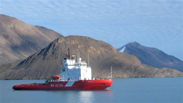 FILE - The Coast Guard icebreaker Terry Fox sits in the waters of Lancaster Sound, Nunavut at the eastern gates of the Northwest Passage in August 2006.
