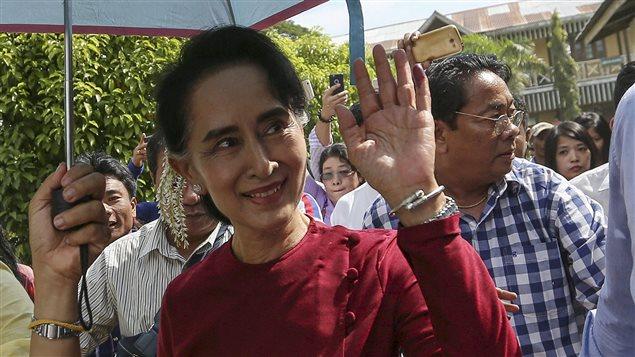 Aung San Suu Kyi, el 8 de noviembre pasado.