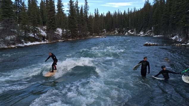 It took about a decade to get the permission and to do the work to build a wave on a river just west of Calgary.