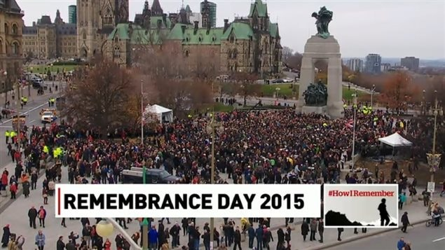 Tens of thousands of Canadians attended this year's Rememberance service in Ottawa at the National War Memorial in Ottawa.