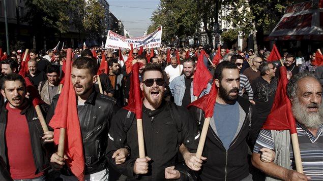 Près de 25 000 personnes participaient jeudi à trois manifestations dans la capitale grecque, selon la police.