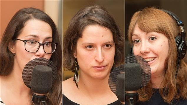 Sarah Gagnon-Piché, Sara Hébert et Rose-Aimée T. Morin