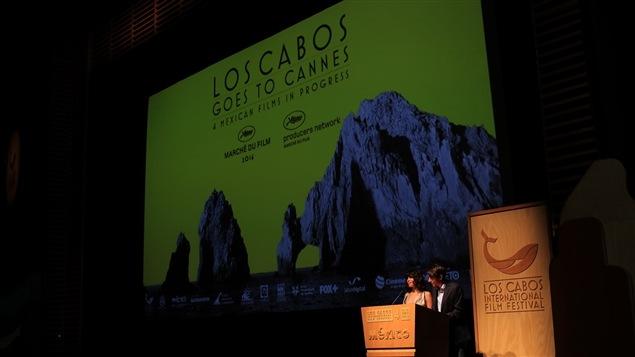 Projection de film au Festival international du film de Los Cabos, au Mexique