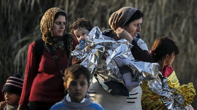 لاجئون سوريون في جزيرة ليسبوس اليونانية في تشرين الثاني (نوفمبر) الفائت.