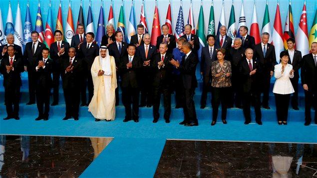Les dirigeants du G20 réunis en Turquie