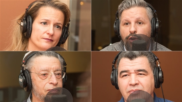 Pascale Brillon, Stéphane Berthomet, Jean-René Milot et Lamine Foura