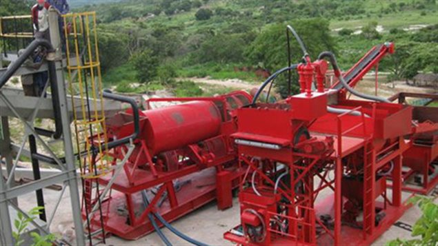 Photo de la mine Muiane au Mozambique.