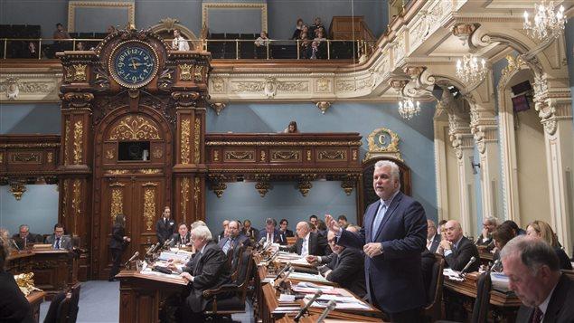 Le premier ministre Philippe Couillard à l'Assemblée nationale du Québec