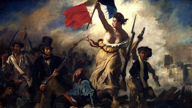 Portion du tableau <i>La liberté guidant le peuple</i> d'Eugène Delacroix (1830)