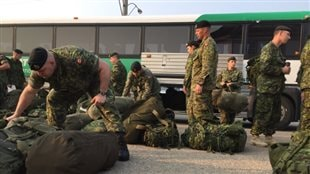 Des réservistes de l'Armée canadienne.
