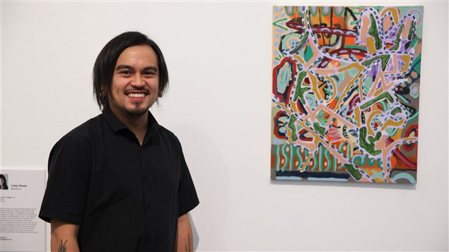 Patrick Cruz is the up-and-coming artist who has won the RBC Canadian Painting Competition with his work Time allergy.
