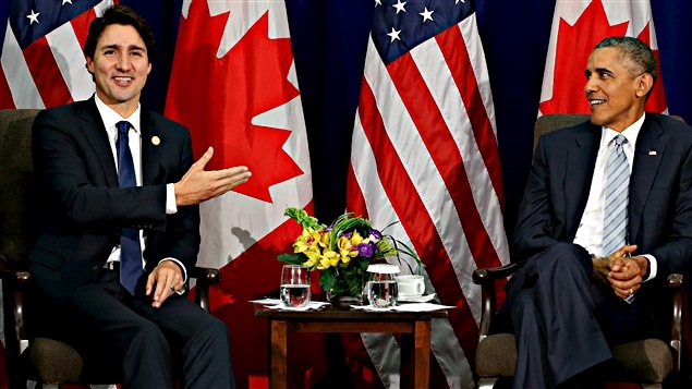 Justin Trudeau and Barack Obama in Manilla.