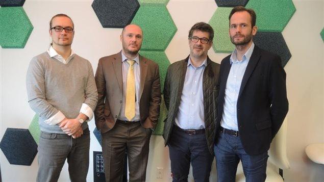Félix Grenier, Denis Roy, Jean-François Thibault et Christophe Traisnel