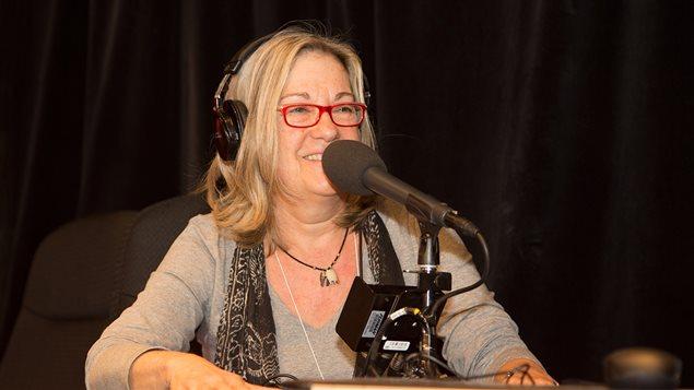 L'auteure Mira Falardeau, membre fondatrice de la Société des créateur(trice)s et amis(e)s de la bande dessinée