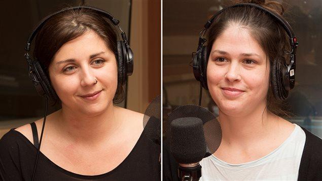 La doctorante en études et pratique des arts Prune Lieutier et l'éditrice Véronique Fontaine
