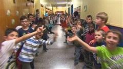 Des élèves de l'école des Quatre-Vents de Sherbrooke