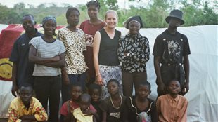 Christina Clark Kazak (PhD), Kyaka II refugee settlement, Uganda, November 2005,