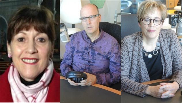Marie-Linda Lord, René Poirier et Monique Richard