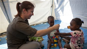 UNICEF's Meg French visited with children in Haiti. She says she can't take donors with her, but they can go on virtual visits themselves.