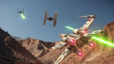 Image tirée du jeu vidéo « Star Wars Battelfront ».